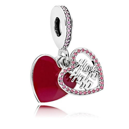 PANDORA Double Happiness Heart Dangle Charm 796590EN151