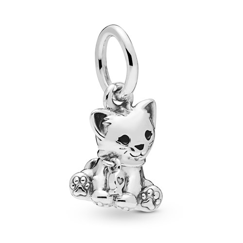 PANDORA Sweet Cat Dangle Charm 798011EN16