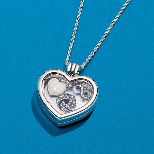 9d802e4fe Quick view. PANDORA Rose Gold CZ Interlocked Hearts Petite Charm