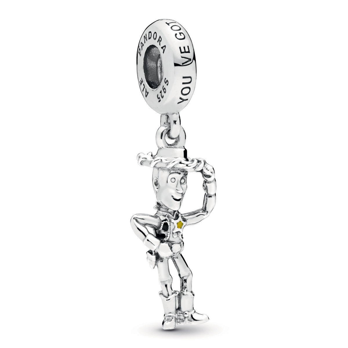 ea13bfec5 Pandora Disney Pixar, Toy Story, Woody Dangle Charm 798041ENMX ...