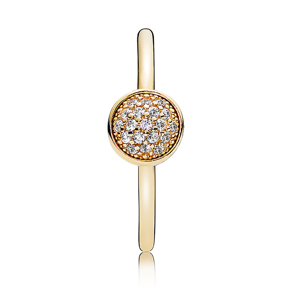 a7a8db3b0 ... PANDORA 14K Dazzling Droplets with Clear CZ Ring V2 ...