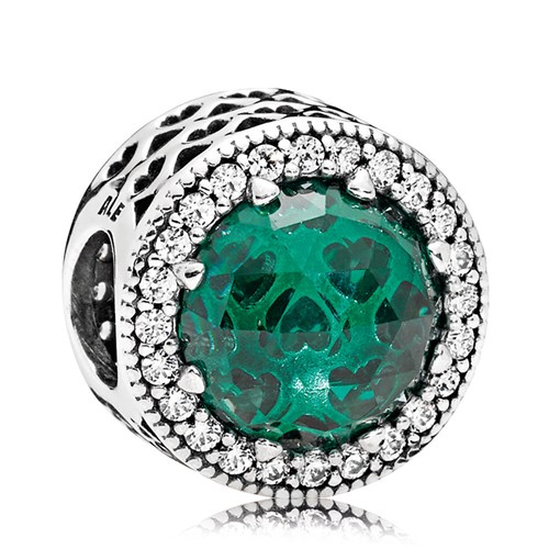 PANDORA Radiant Hearts Sea Green Charm