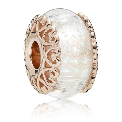 PANDORA Rose™ Iridescent White Glass Charm 787576