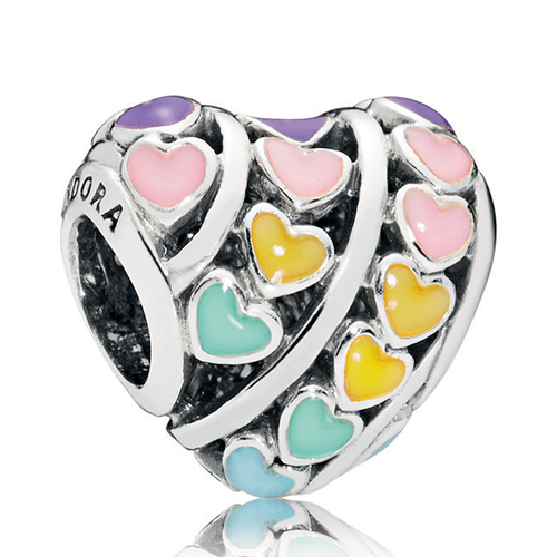 PANDORA Multi-Color Hearts Charm