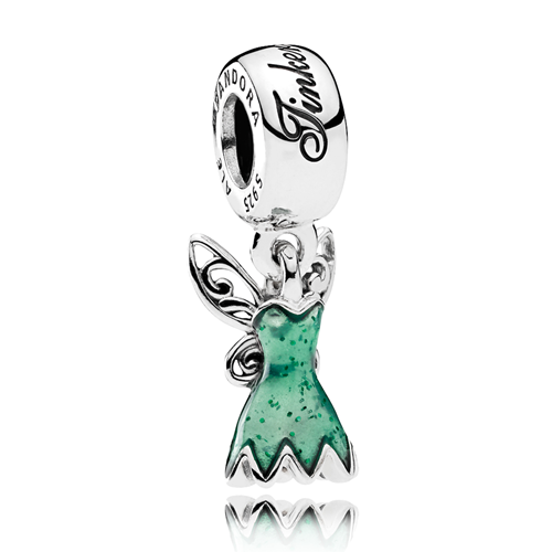 PANDORA Disney, Tinker Bell's Dress Dangle Charm
