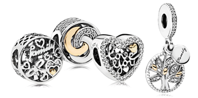 STERLING SILVER & 14KT GOLD CHARMS