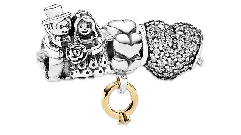 pandora wedding charms for bracelets