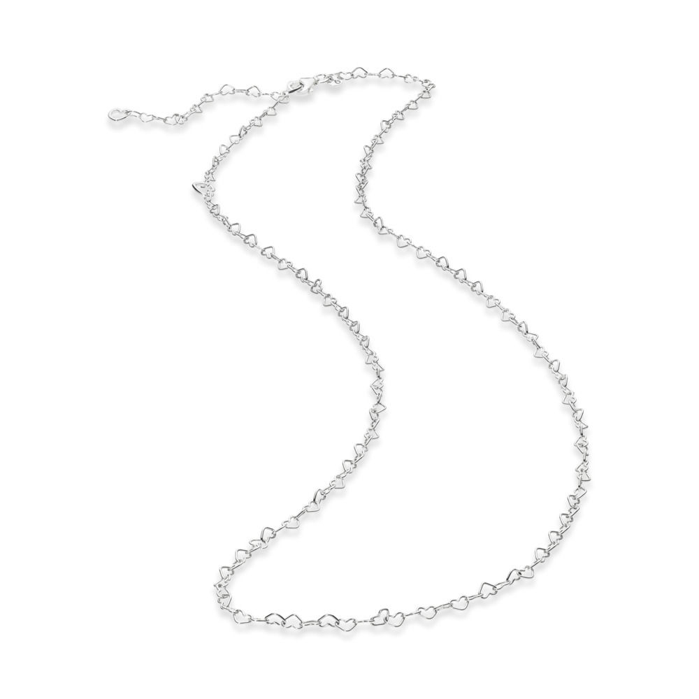 1db865f6b ... PANDORA Joined Hearts Necklace Chain 397961-60