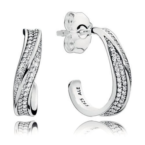 d3e59cf90 PANDORA Elegant Waves Hoop Earrings - Mypanjewelry.com