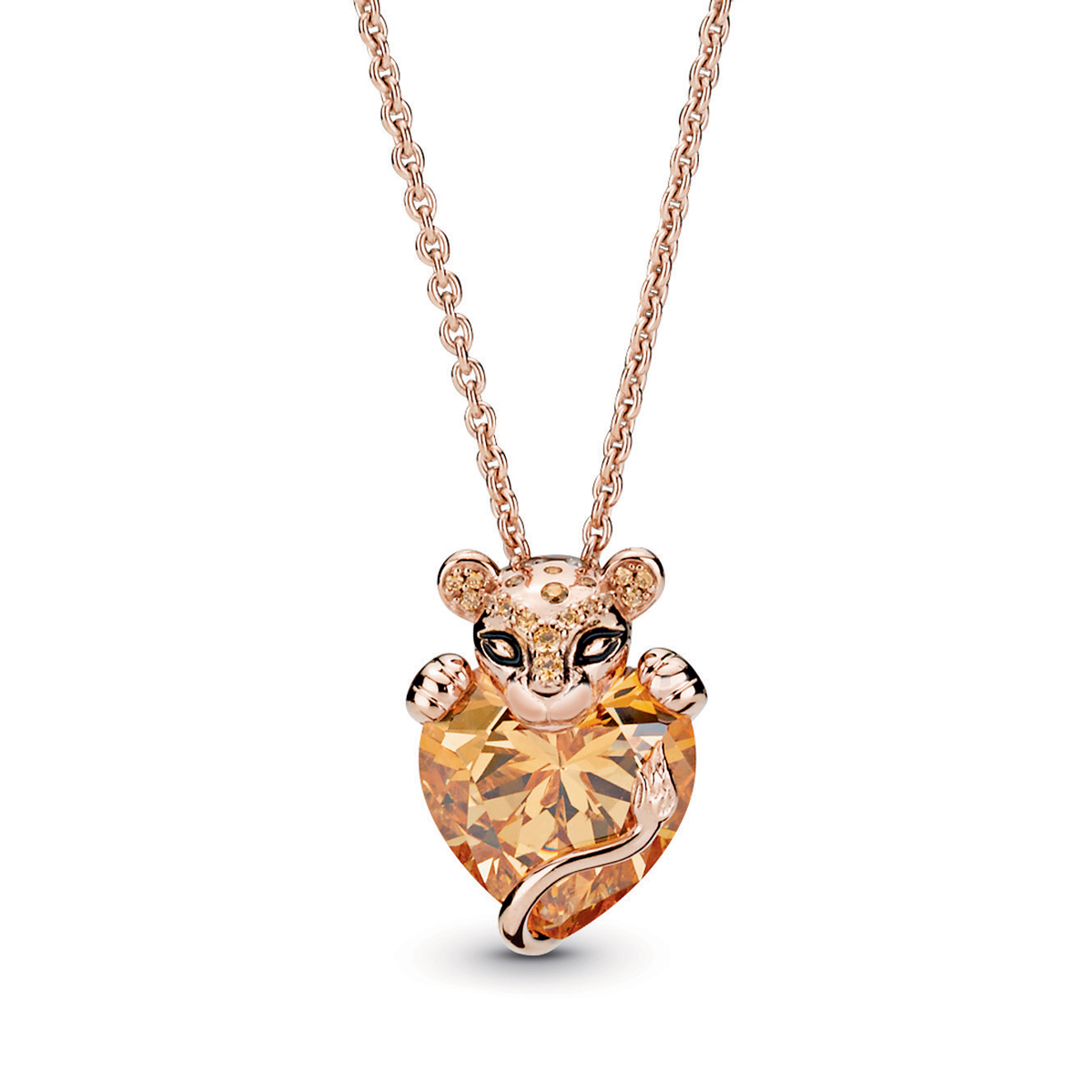2c8534538 Pandora Rose™ Sparkling Lion Princess Heart Necklace 388068CZM-60 ...
