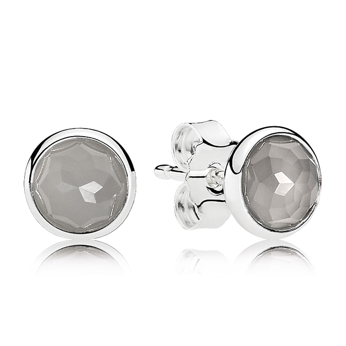 PANDORA June Droplets, Grey Moonstone Earrings - RETIRED 1 Left!