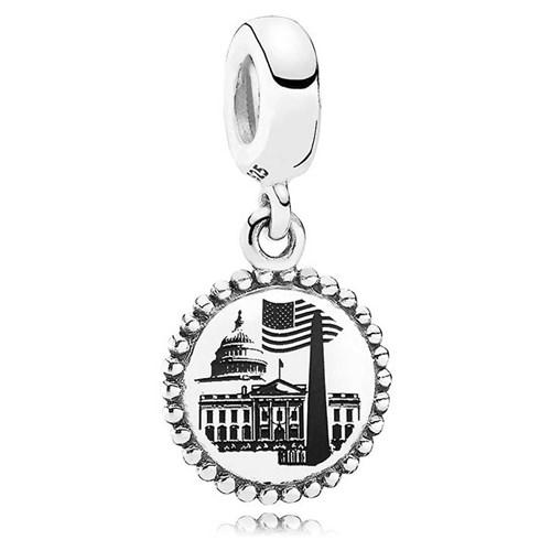 0110b9d08 PANDORA Washington D.C. Dangle Charm - Mypanjewelry.com