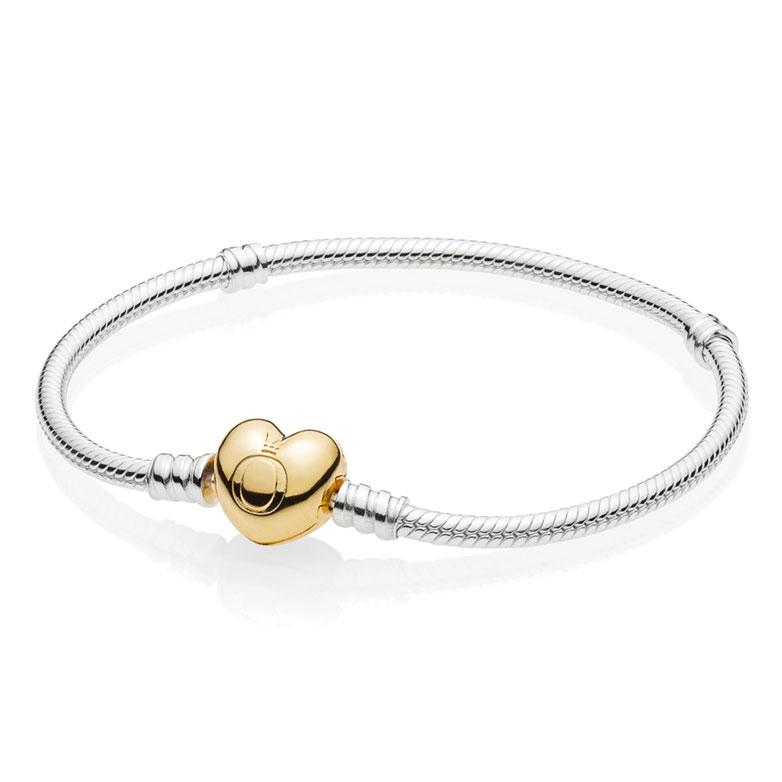 66392acba PANDORA Shine™ Moments Silver Heart Bracelet 560719 ...