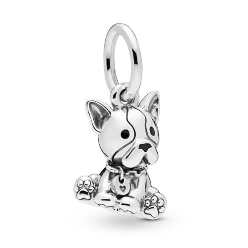 PANDORA Bulldog Puppy Dangle Charm 798008EN16