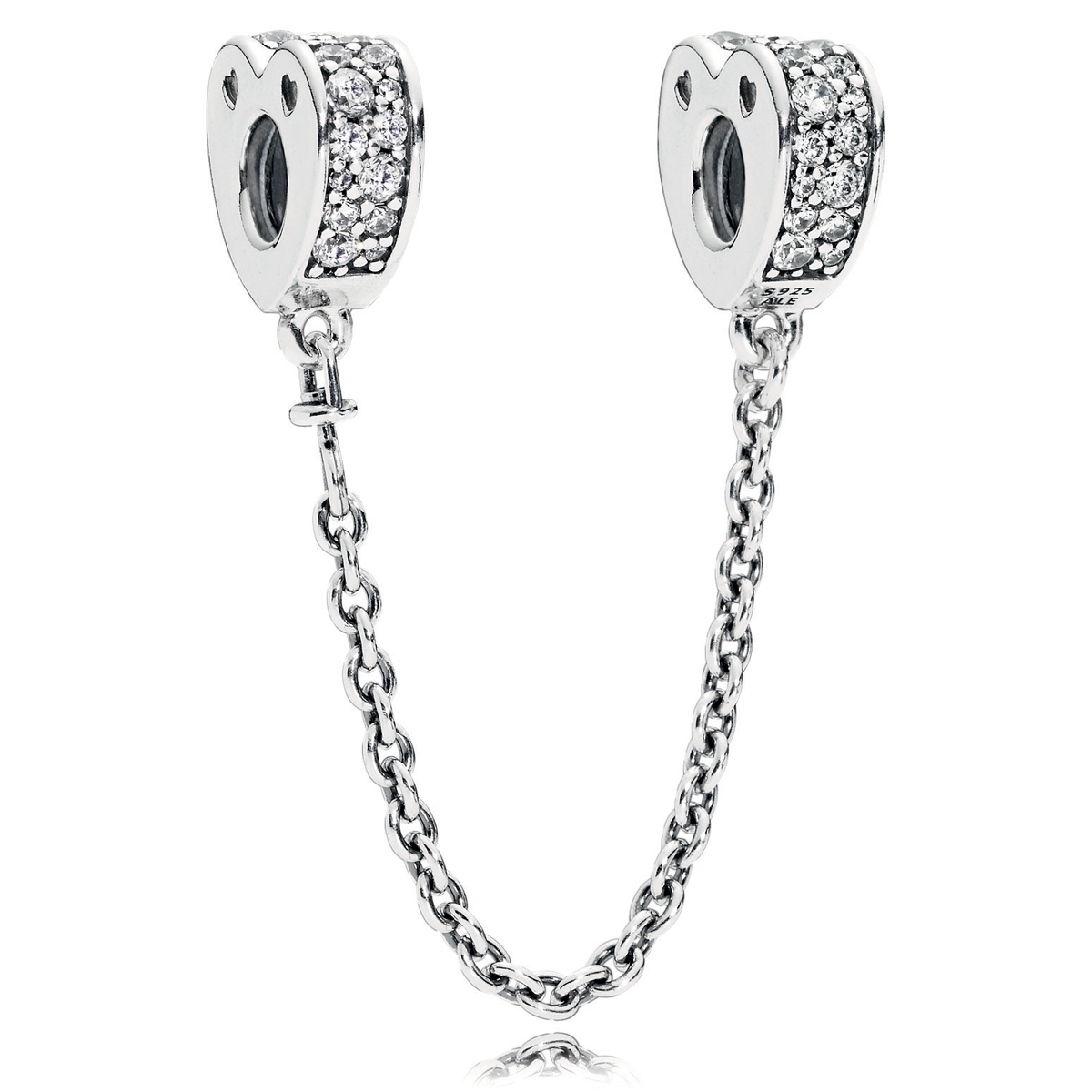 Sparkling Moon /& Star Elegance Arcs of Love Safety Chain ELEGANCE Insignia S925