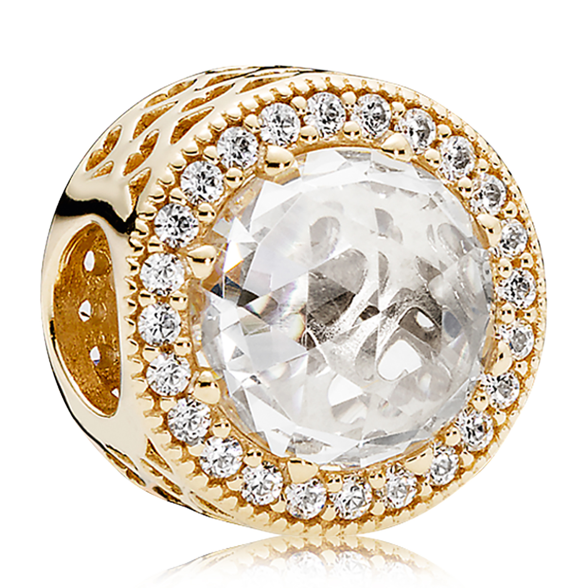 Pandora 14k Radiant Hearts Charm Mypanjewelry Com