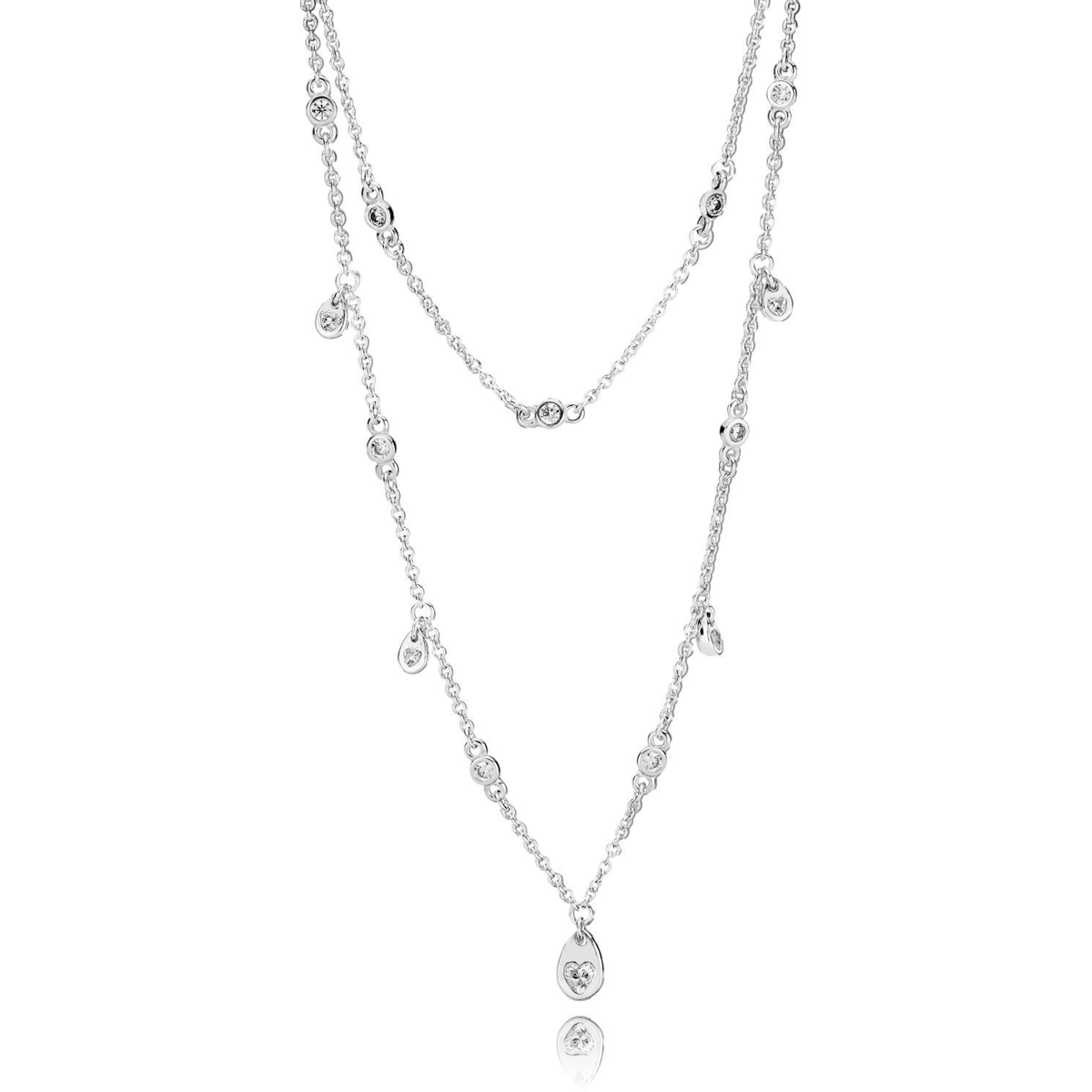 16c1e3f0b PANDORA Chandelier Droplets Necklace ...