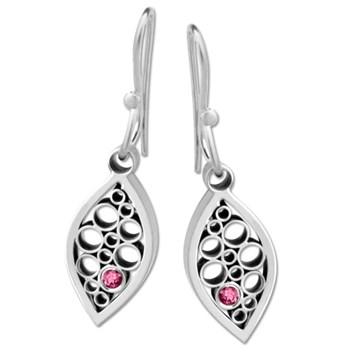 Belle Brooke Rhodolite Garnet Leaf Earrings