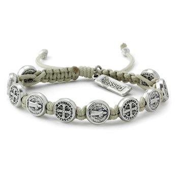 My Saint My Hero Cream & Silver Blessing Bracelet