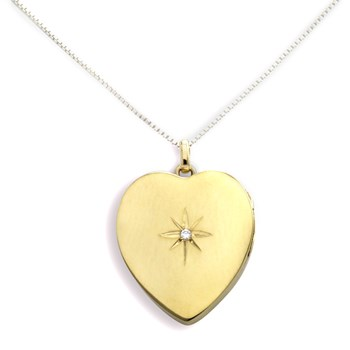 340447-Lovely Locket Gold Heart Necklace