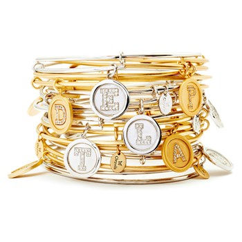 Chrysalis 14K Gold-Plated Initial Bangle
