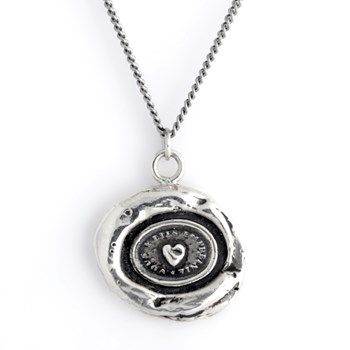 Pyrrha Heart Print Talisman Necklace