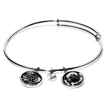 Chrysalis August Poppy Flower Bangle RETIRED ONLY 1 LEFT!