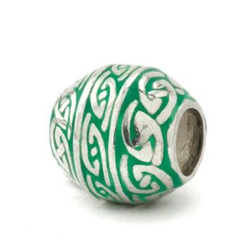 Green Barrel Bead