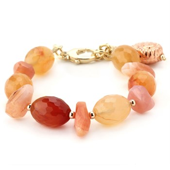 Lollies Carnelian Shell Bracelet - 344462