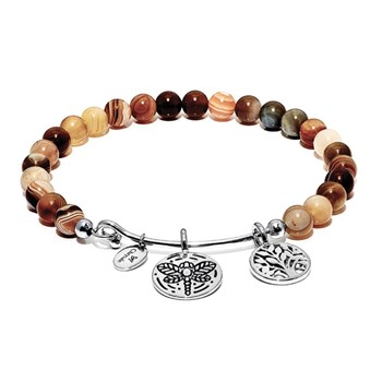 Chrysalis Botswana Agate TREE OF LIFE Bangle 345072 RETIRED ONLY 2 LEFT!