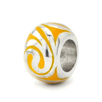 Yellow Spiral Bead