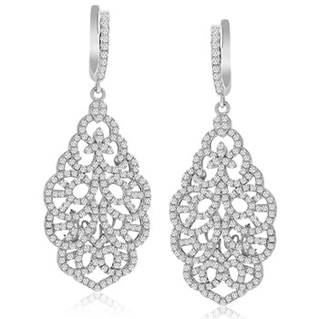 344903-Lacework Dangle Bling Earrings