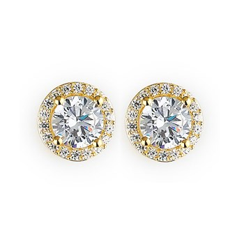 344406-Sparkling Gold Stud Earrings