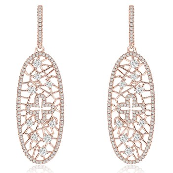 344424-Sparkling Rose Gold Earrings