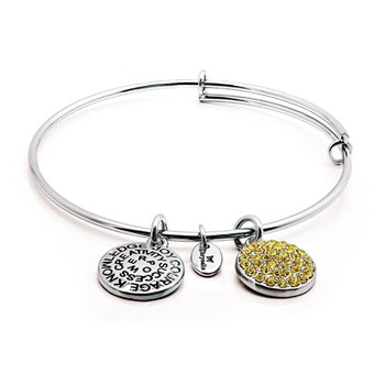Chrysalis NOVEMBER Crystal Bangle