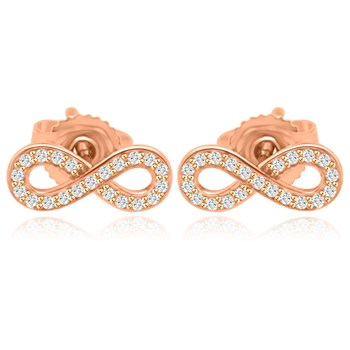 344420-Rose Gold Infinity Earrings