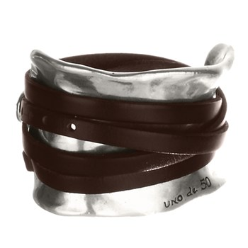 UNOde50 Ibiza Brown Leather Bracelet