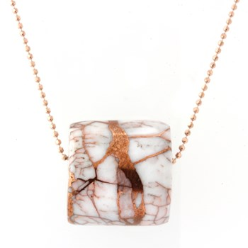 339966-Copper In Quartz Necklace