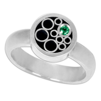Belle Brooke Green Tsavorite Circle Ring