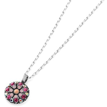 348812-Mariana Pink and Iridescent Angel Necklace