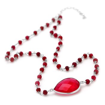 "235-607-Elisa Ilana ""Highborn"" Ruby Necklace"
