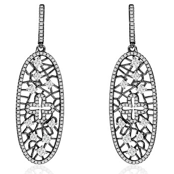 344423-Sparkling Black Earrings
