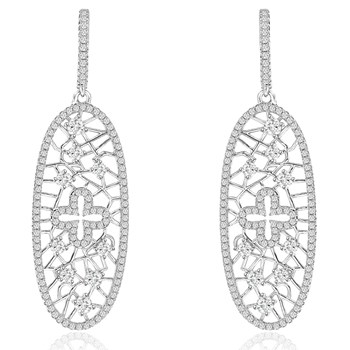 344422-Sparkling Silver Earrings