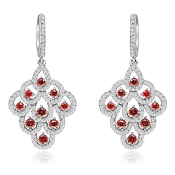 344417-Red Crystal Drop Earrings