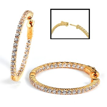 344412-Sparkling Gold Hoop Earrings