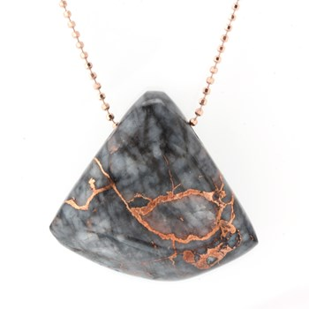 339963-Copper In Quartz Necklace