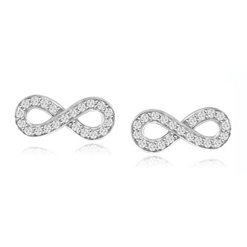 344419-Silver Infinity Earrings