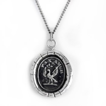 Pyrrha Peace and Love Talisman Necklace