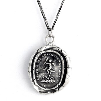 Pyrrha Cherub of Hope Talisman Necklace