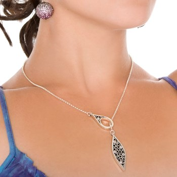 Belle Brooke White Sapphire Petite Lariat Necklace